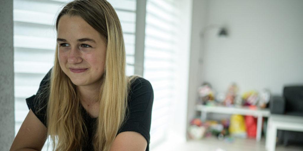 Svetlana's older daughter Taisya